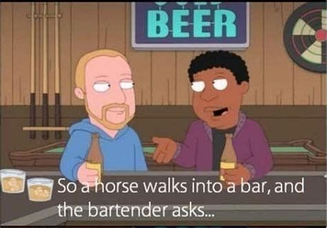 a horse walks into 1910702935 so a horse walks into a bar izismile com