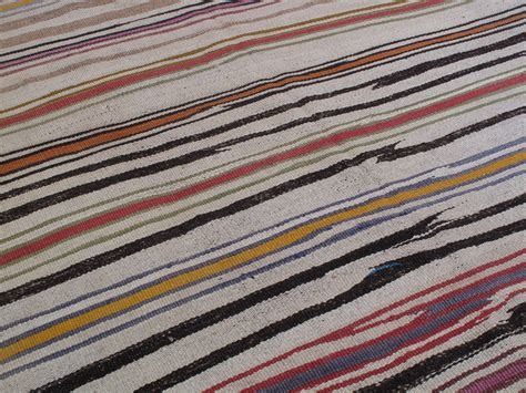 Striped Runner Rug Striped Kilim Wide Runner Rug At 1stdibs
