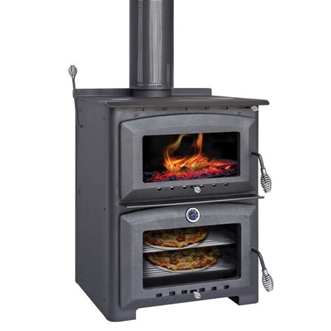 Stove With Oven scandia indoor wood heater with oven stove bunnings warehouse