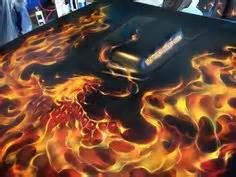 Paint Brushkuas Cat Crocodile 50 airbrush rod flames posted by at 8 19 pm