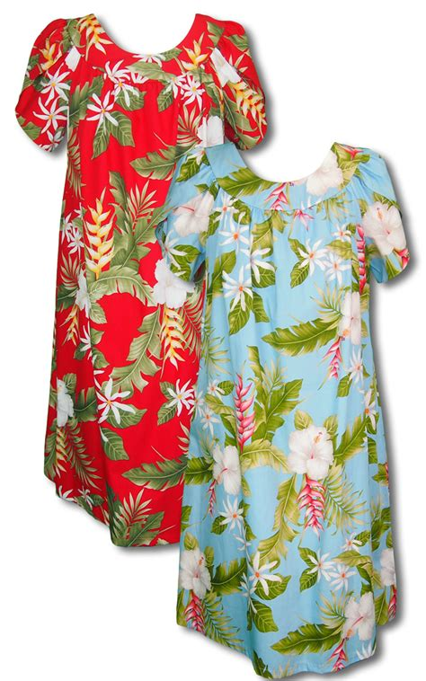 Pikake Jasmine Heliconia MuuMuu RJC Punani Label Cotton Dress