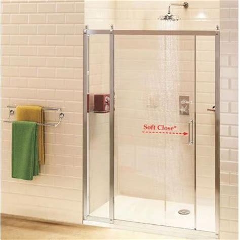 Recess Shower Door Burlington Soft Recessed Sliding Shower Door With Inline Panel Bu Sft Inre At