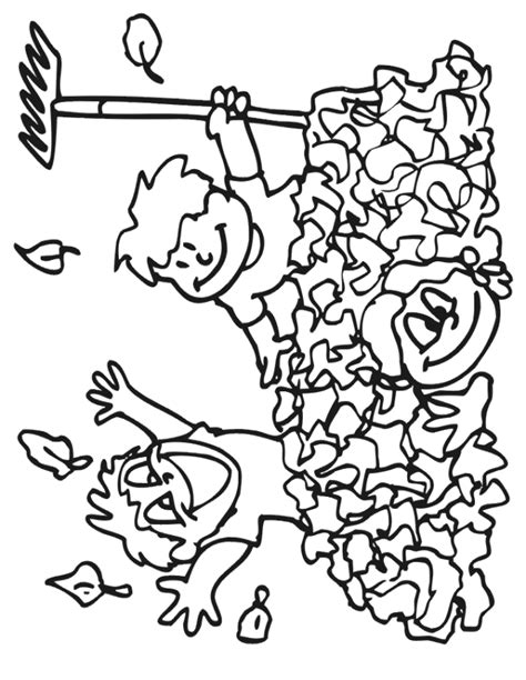 free fall leaves coloring pages