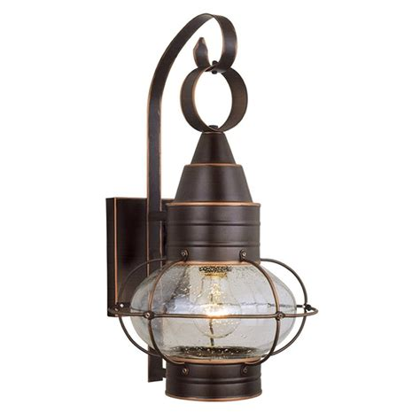 Shop Cascadia Lighting Onion Nautical 18 In H Burnished Nautical Lights