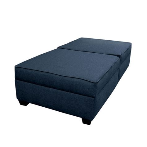 ottoman converts to twin bed convertible polyester fabric upholstered twin size solid