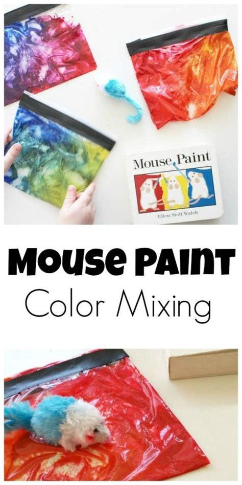 colour themes for preschoolers mouse paint color mixing mouse paint color themes and mice