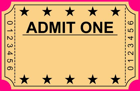 8 blank movie ticket template