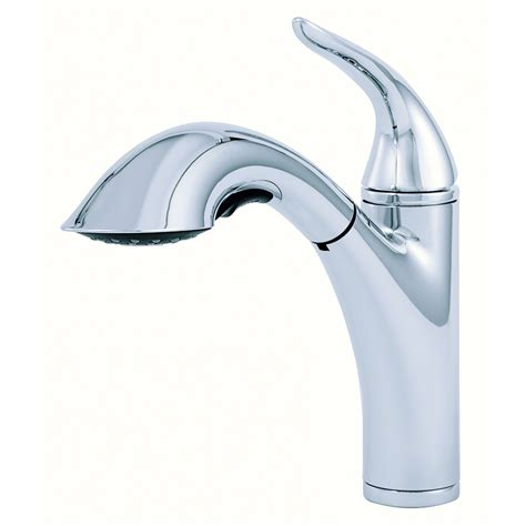 kitchen faucets danze shop danze antioch chrome 1 handle pull out kitchen faucet