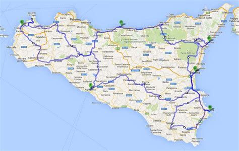 sicily on map cimt motorcycle tour sicily motorcycle tours in sicily