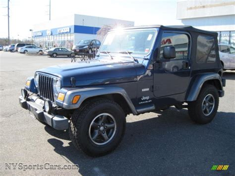 patriot blue jeep wrangler 2004 jeep wrangler x 4x4 in patriot blue pearl photo 4