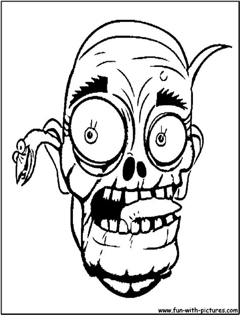 zombie head coloring page halloween zombie coloring pages getcoloringpages com