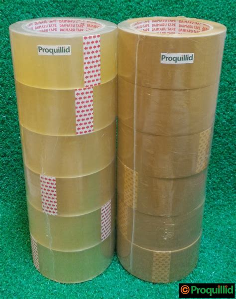 Lakban Opp Coklat proquillid lakban isolasi opp packaging bening