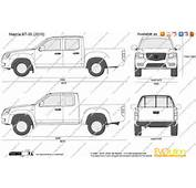 The Blueprintscom  Vector Drawing Mazda BT 50