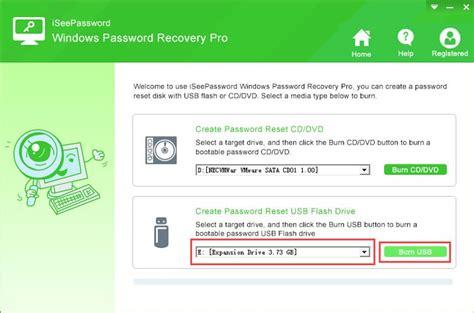 password reset tool usb reset windows logon password with iseepassword windows
