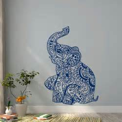 elephant wall decal stickers yoga decals indie art cute sticker