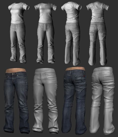 zbrush jeans tutorial girl clothing sclupt wip by screenlicker on deviantart
