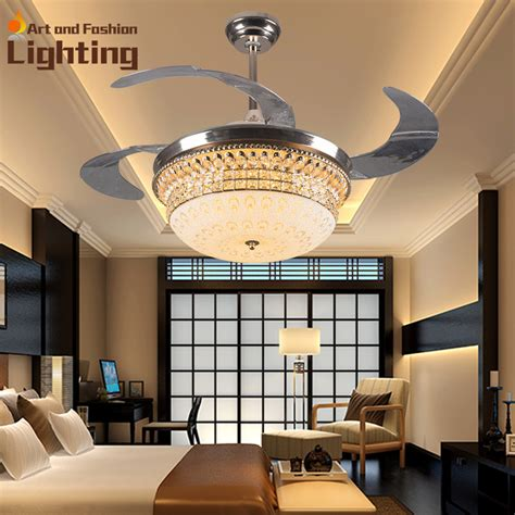 luxury ceiling fans with lights aliexpress com buy luxury k9 crystal ceiling fan lights