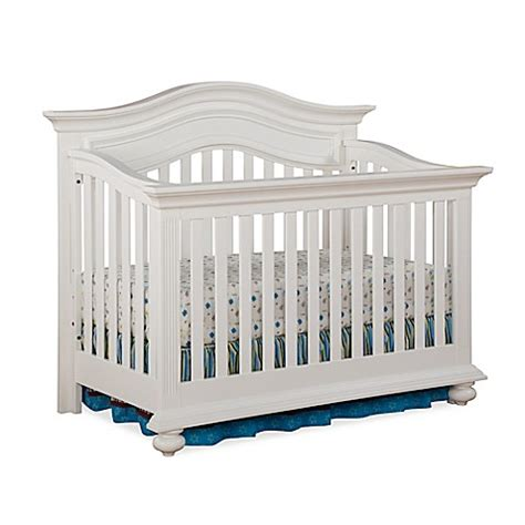 Kingsley Keyport 4 In 1 Convertible Crib In White Buybuy White 4 In 1 Convertible Crib