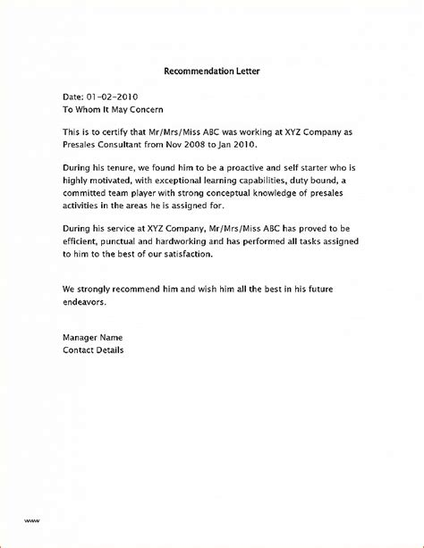 Mba Peer Recommendation Letter Sle by Letter Of Recommendation Fresh How To Write A Peer