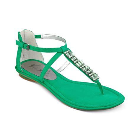 green sandals marc fisher mard flat sandals in green green