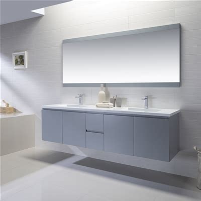 adams 72inch vanity with solidsurface top floating