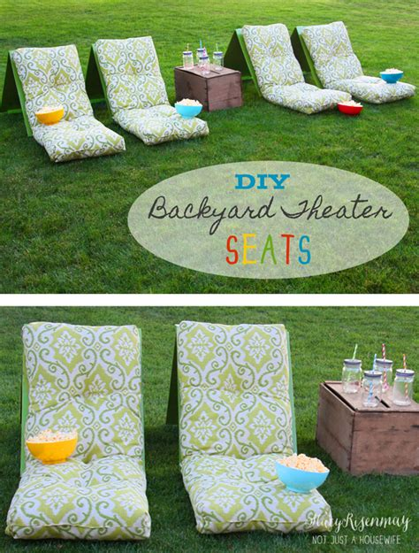 diy backyard theater outdoor movie theater seating not just a housewife