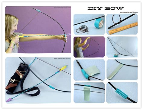 How To Make A Bow And Arrow With Paper - how to make diy bow and arrow archery step by step