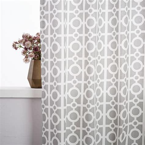 Cotton Canvas Curtains Cotton Canvas Circle Lattice Curtain Platinum West Elm