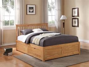 Wooden Bed Frames With Drawers Uk Storage Beds Flintshire Furniture Pentre Wooden Bed With