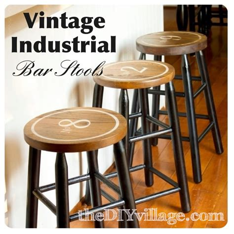Diy Metal Bar Stool by Chippy Painted Bar Stools The Turquoise Home