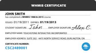 Whmis Certificate Template by Canada Safety Compliance Whmis 2015 Certification