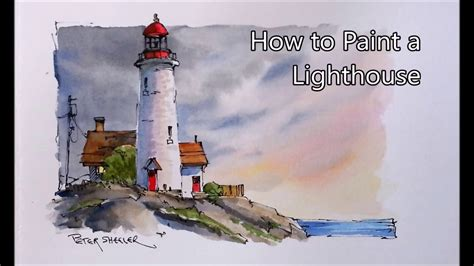 watercolor lighthouse tutorial pen and wash watercolor tutorial cape spear lighthouse by