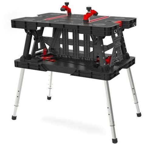 keter folding bench keter 216558 portable folding work bench table w