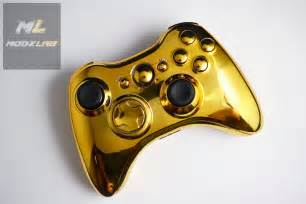 Gold xbox controllersgold star xbox 360 controller with ml ultra chip