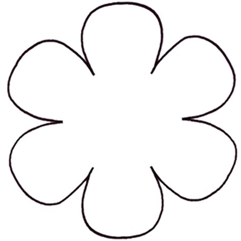 flower template with 6 petals flower template printable cliparts co