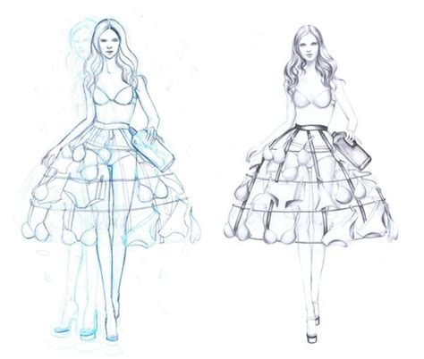 sketch model template fashion designs sketches models 2014 2015 fashion trends