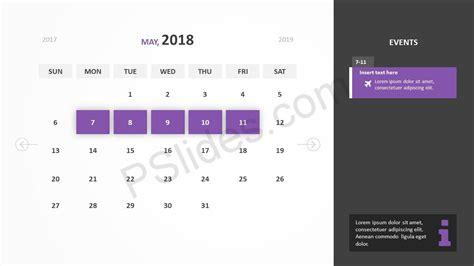 Free 2018 Calendar Powerpoint Template Pslides Calendar Template For Powerpoint 2017
