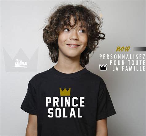 Branded 2818 Parental my minimi brand shirt personnalis 233 prince pour enfant et parents noir et blanc