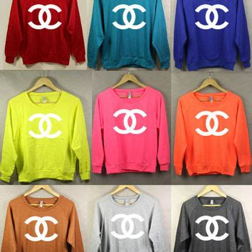 Coco Channel Rainbow Tshirt shop chanel t shirt on wanelo