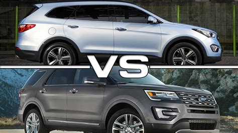Hyundai Fort by 2015 Hyundai Grand Santa Fe Vs 2016 Ford Explorer