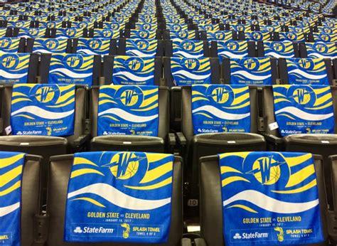 Warriors Giveaways - january 16 2017 golden state warriors splash towel