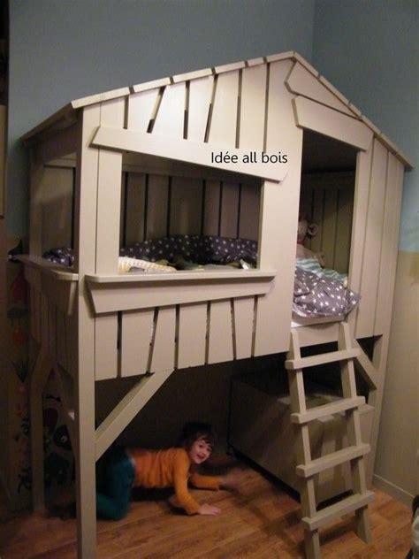fabriquer un lit cabane fabriquer une cabane de lit