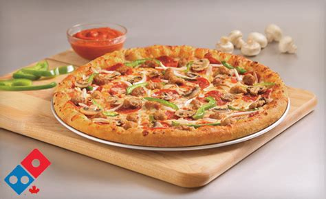 domino pizza whitby wagjag 9 for a large pizza with unlimited toppings from