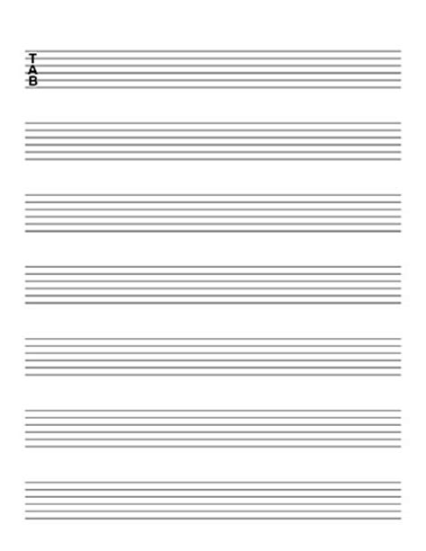 guitar tab template blank sheet tablature guitar