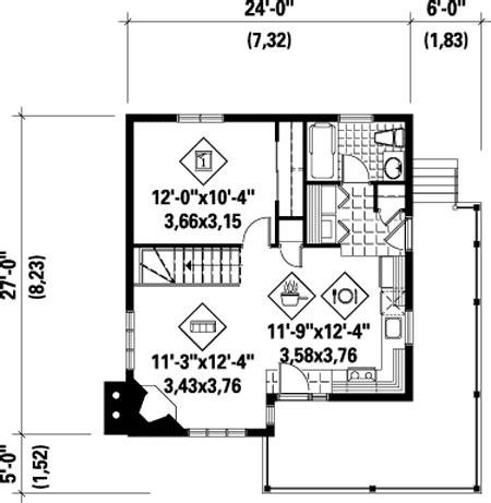 simple  bedroom cottage pm architectural designs house plans