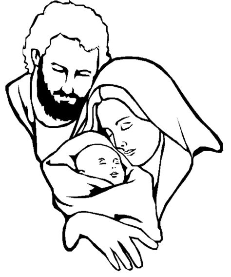 free coloring pages of mary and joseph