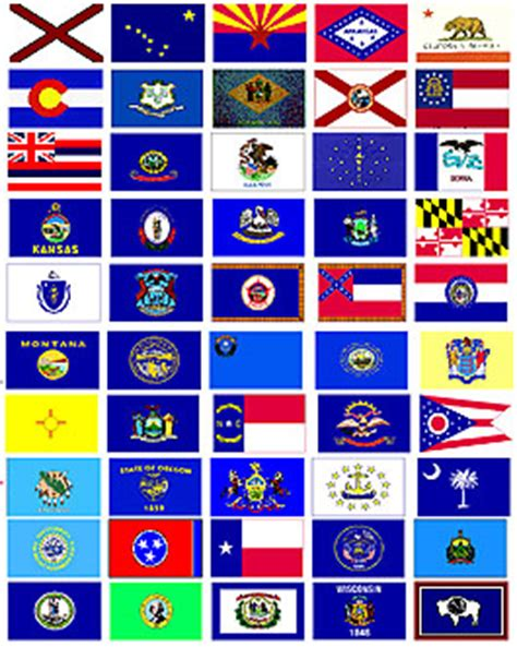 free printable us state flags image gallery all 50 flags