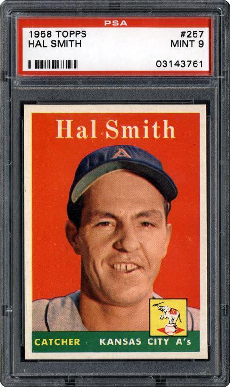 Hal Smith Gift Card - 1958 topps hal smith psa cardfacts