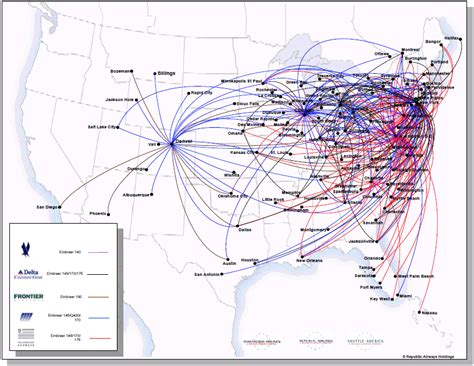 american airlines route map usa american connection route map