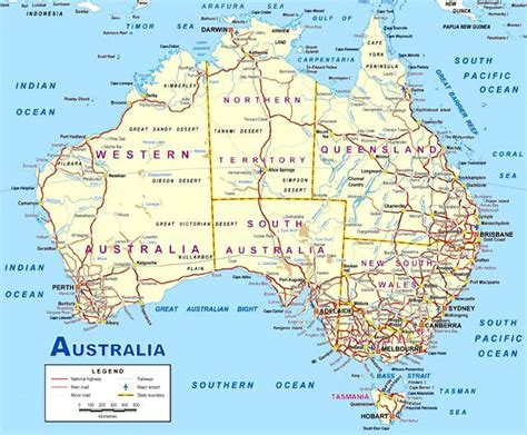 map of ausralia detailed map of australia aussie adventure